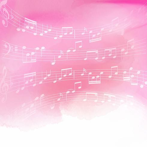 Musik noter på akvarell bakgrund vektor