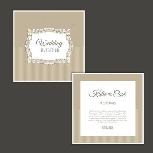 Vintage Hochzeitseinladung vektor