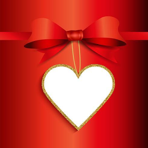 Alla hjärtans dag gåva etikett bakgrund vektor