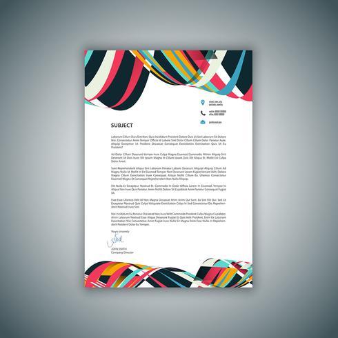 Affär brevpapper design vektor
