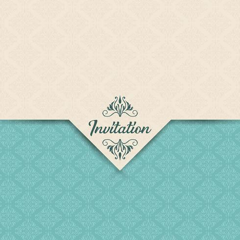 Dekorativ inbjudningsdesign vektor