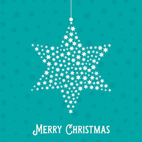 Julstjärna bakgrund vektor
