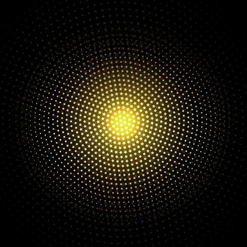 Guldstjärnor bakgrund vektor