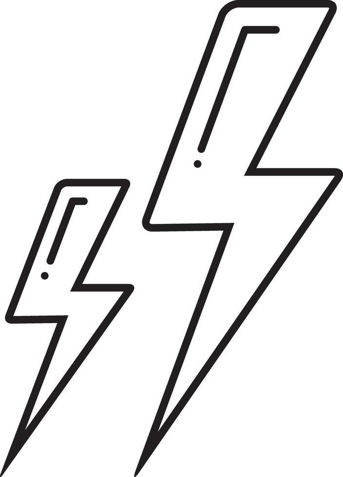 linje ikon för blixt vektor