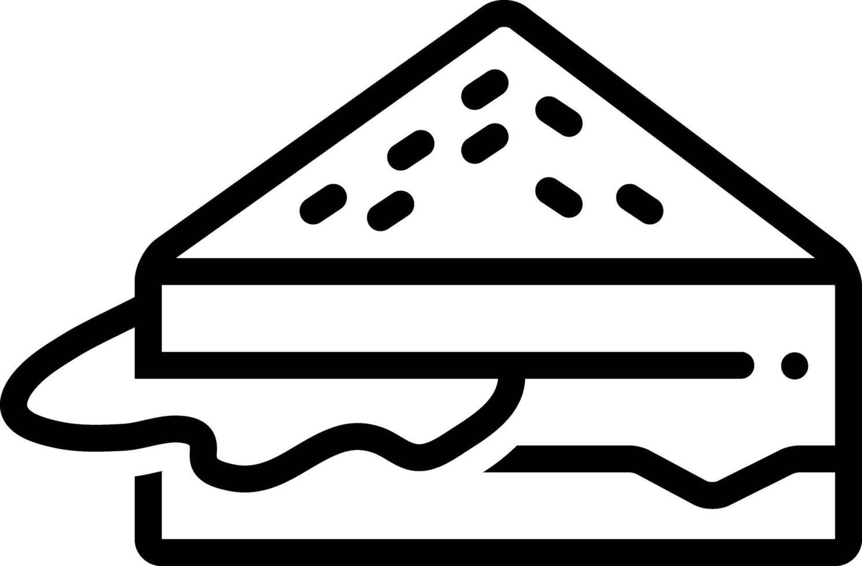 linje ikon för smörgås vektor