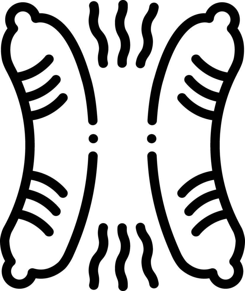 Liniensymbol für Wurst vektor