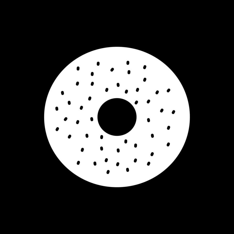 Bagel Dark Mode Glyphen-Symbol vektor