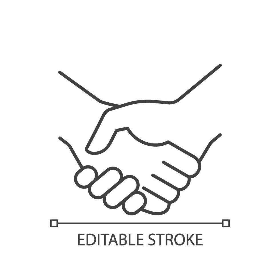 Handshake lineares Symbol vektor