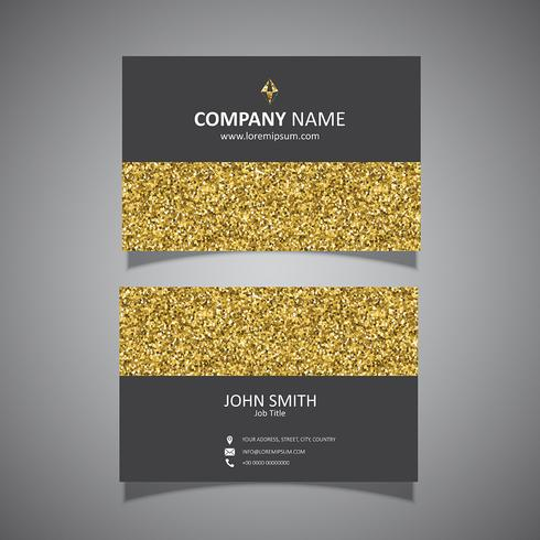 Guld glitter visitkortdesign vektor