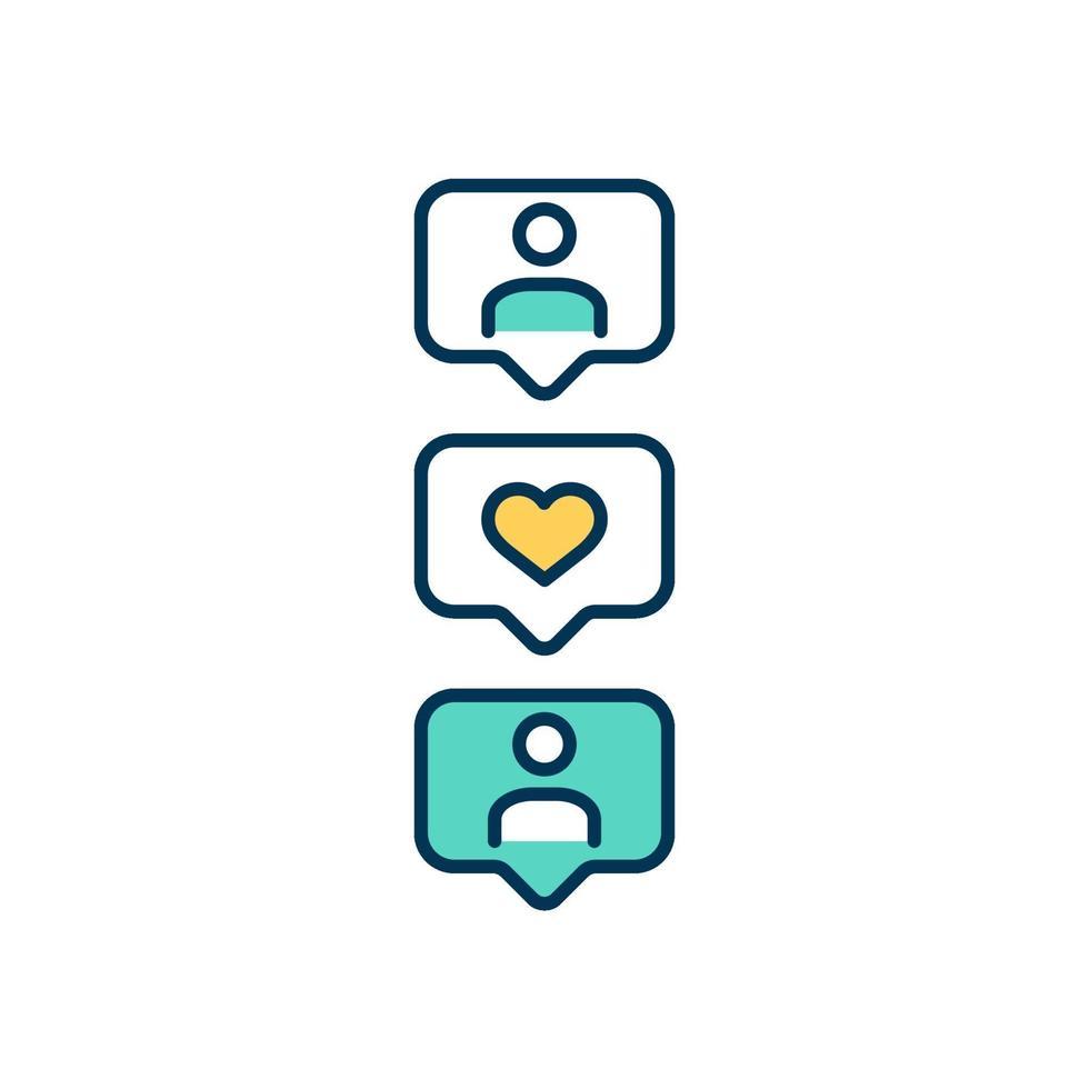 sociala medier plattformar färgikon vektor