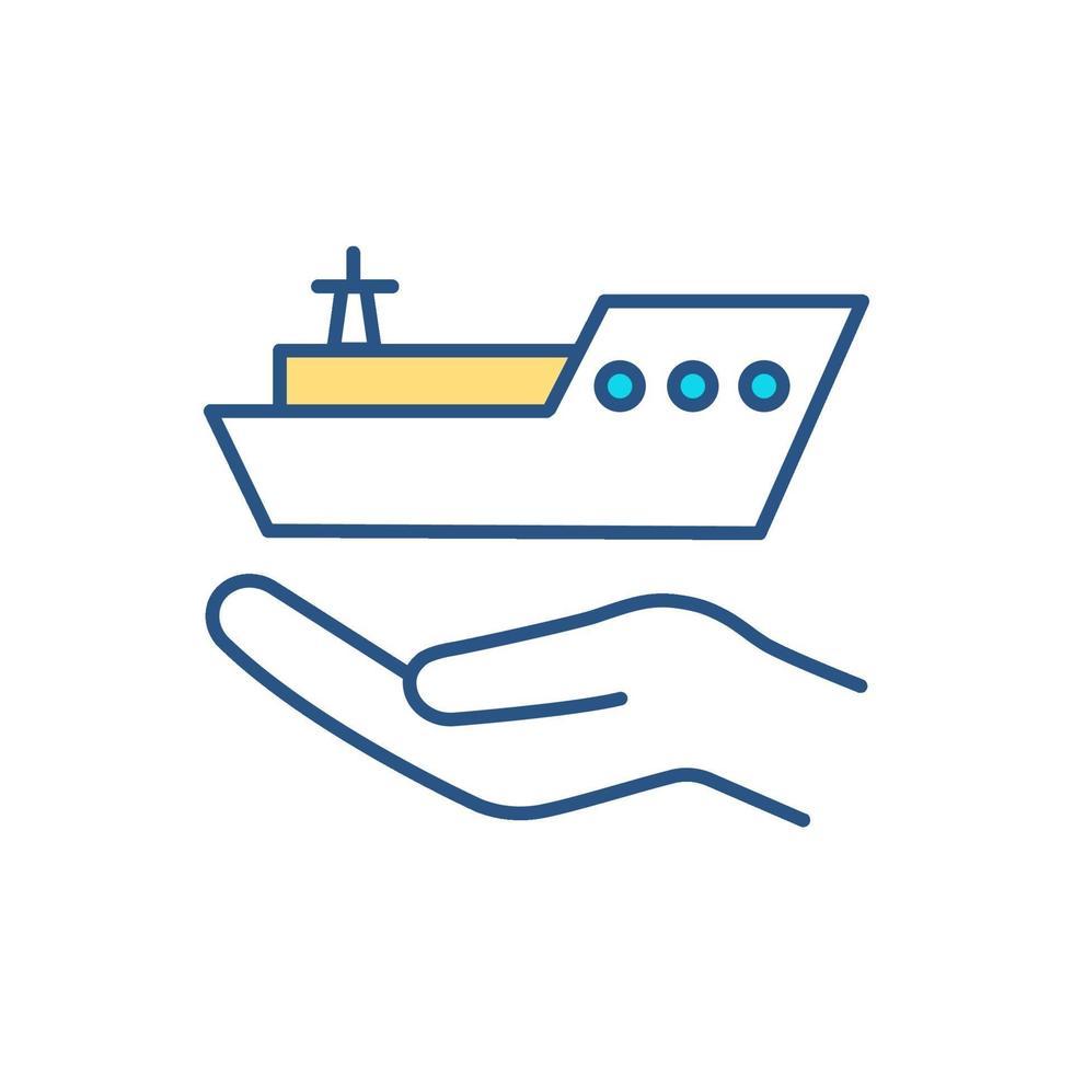 Farbsymbol für vorbeugende Schiffswartung vektor