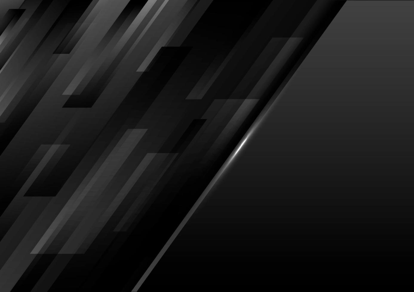 abstrakt modern mall svarta geometriska diagonala ränder på mörk bakgrund vektor