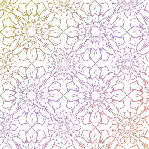 Blomönster bakgrund vektor