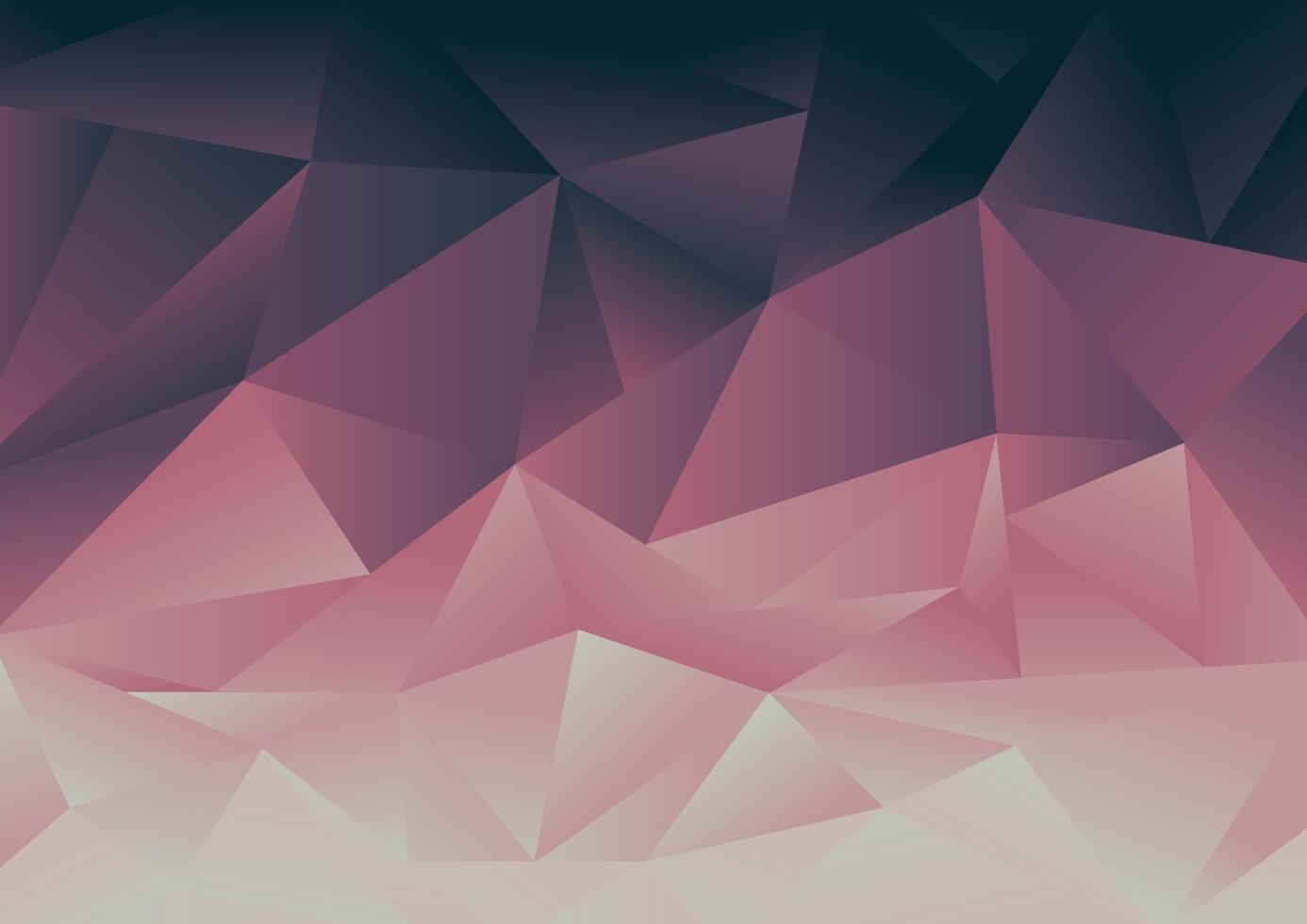 abstrakt bakgrund med låg polygonrosa och blå gradientmosaik. vektor
