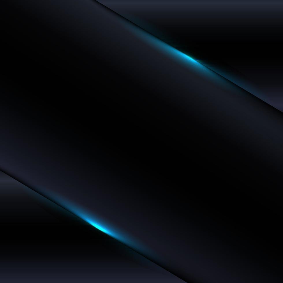 Metallic-Vorlage der modernen Zusammenfassung der Technologieschwarzer Farbverlauf mit blauem Lichtdekorationshintergrund vektor