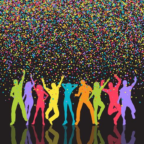 Bunter Party Menschen Hintergrund vektor