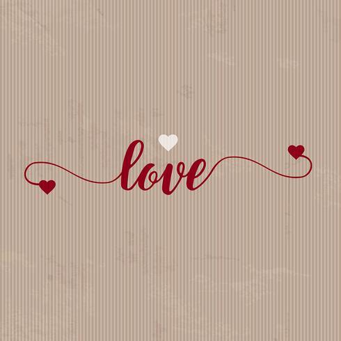 Grunge Liebe Hintergrund vektor