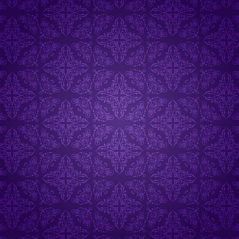 Purpurfärgad damast mönsterbakgrund vektor