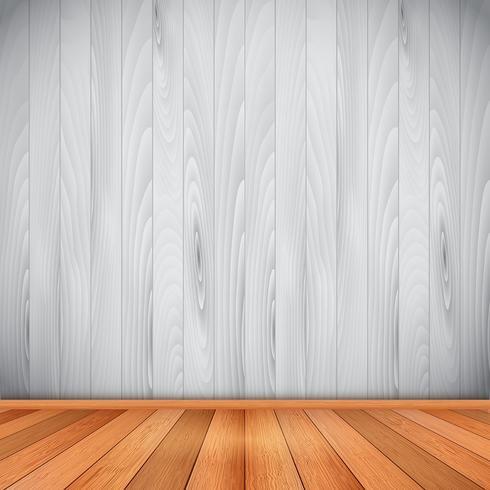 Interieur mit Holzboden und Wänden vektor