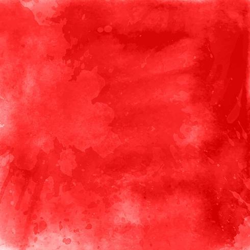 Röd akvarellbakgrund vektor