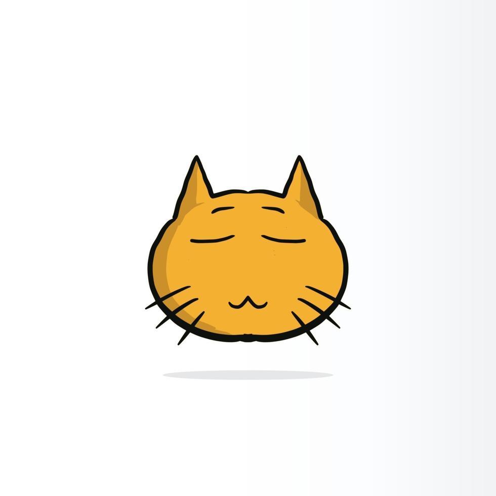 gul smiley katt eller glada känslor på jobbet, på papperskopp och papper. koncept för lycklig arbetsdag vektor
