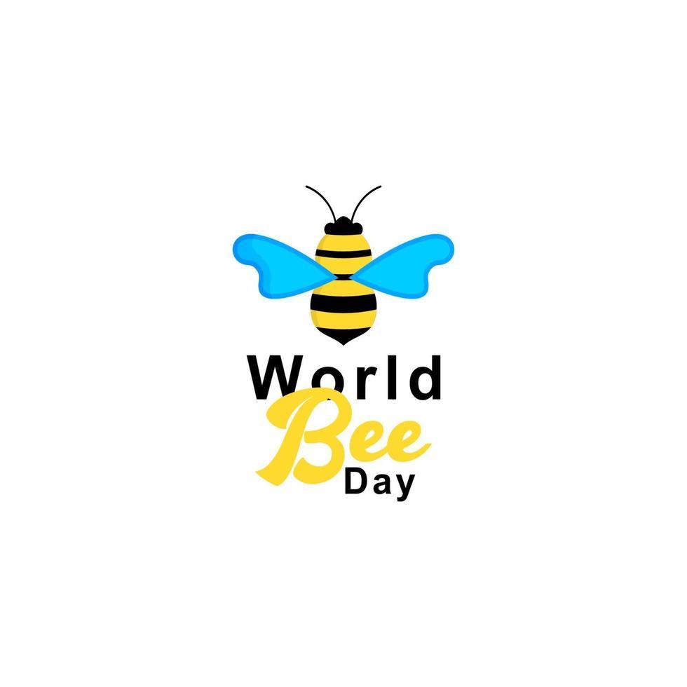 världsbi dag logotyp vektor mall design illustration