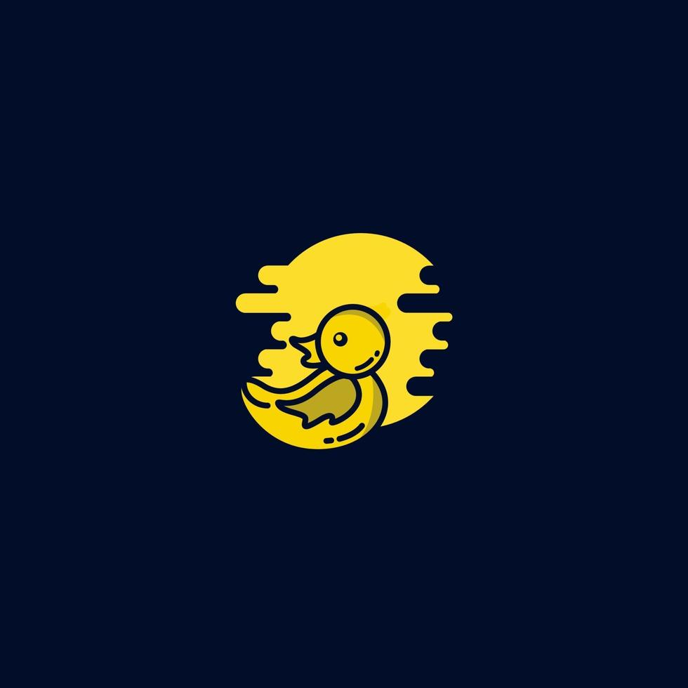 baby anka logotyp ikon vektor mall design illustration