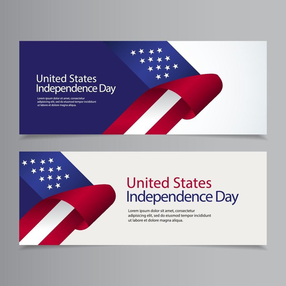 glückliche Vereinigte Staaten Unabhängigkeitstag Feier Vektor Vorlage Design Illustration
