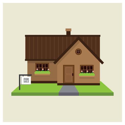 Fastigheter till salu vektor