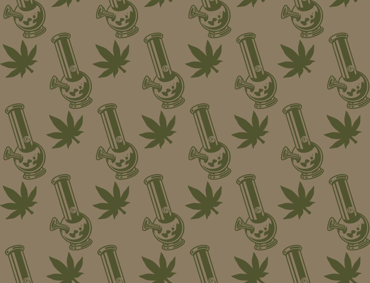 Vintage nahtloses Muster mit einem Cannabisblatt vektor