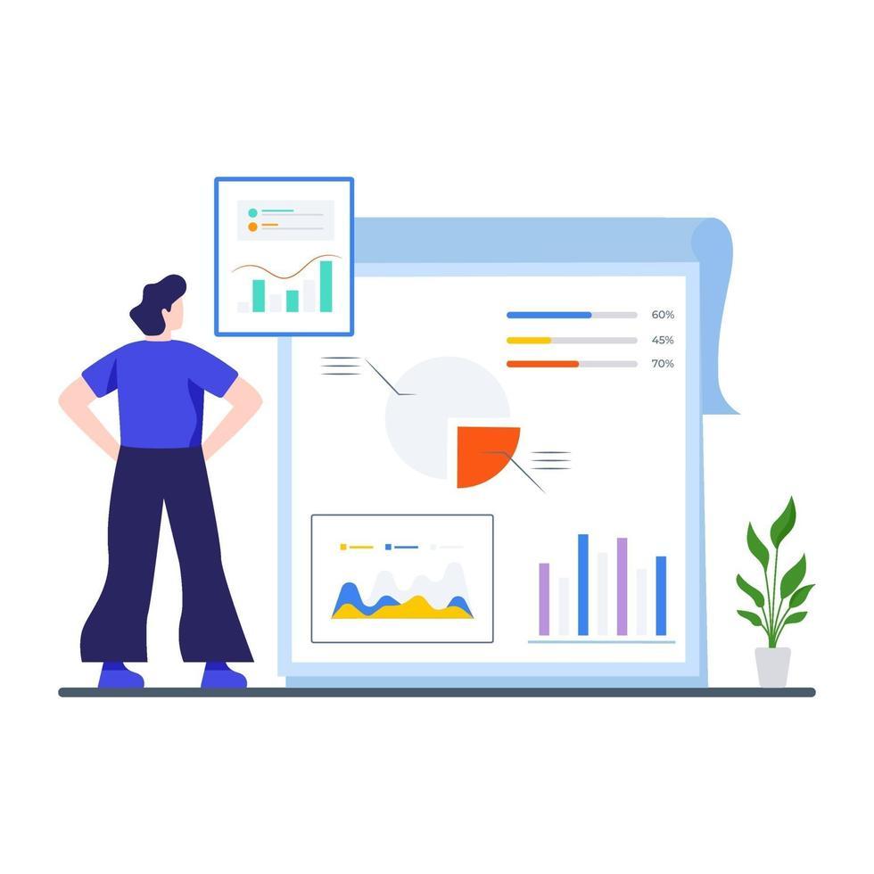 Konzept zur Analyse von Geschäftsdaten vektor