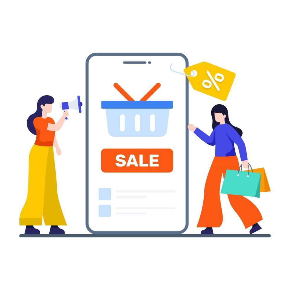 Verkaufsförderung und Werbekonzept vektor