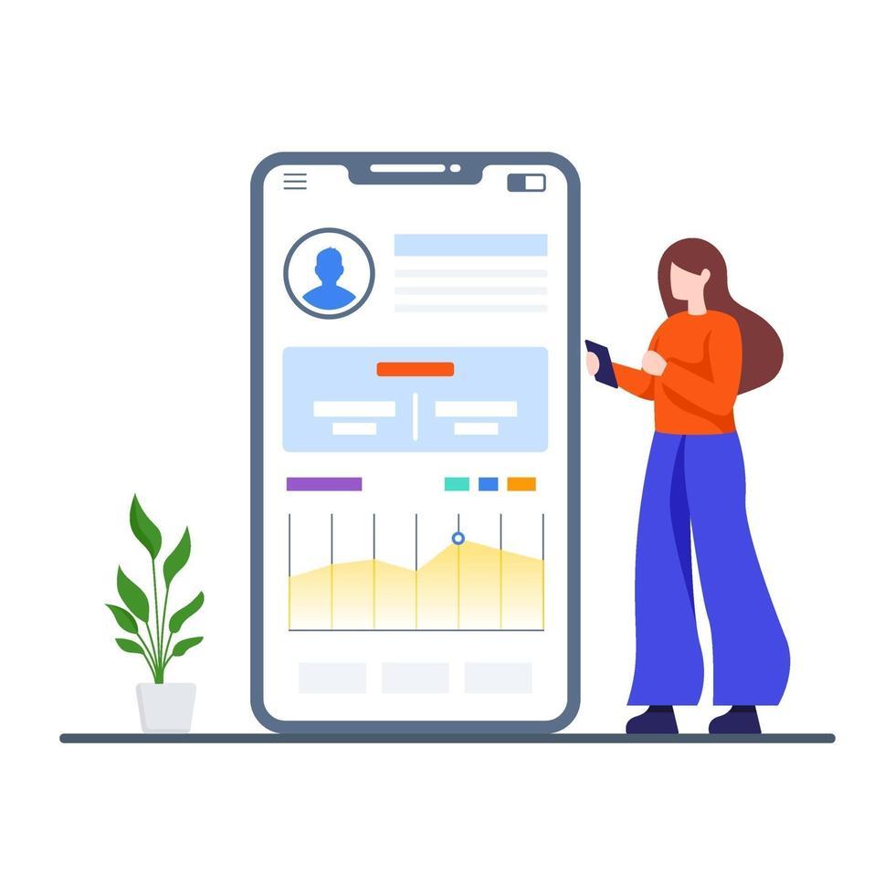 Business Dashboard App Konzept vektor