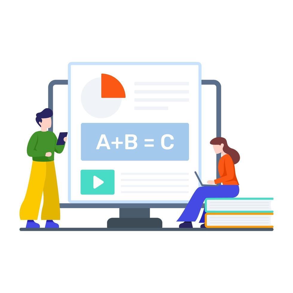 Online-Videoklassen-Konzept vektor