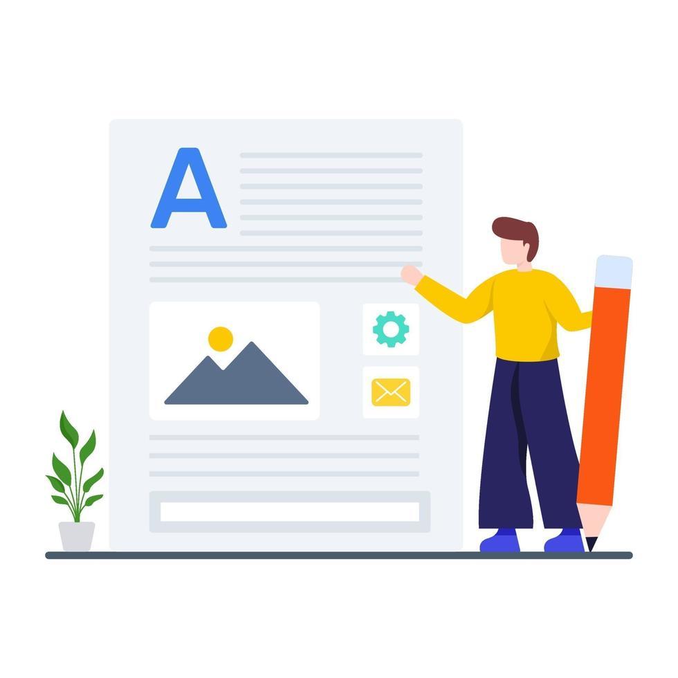 Content Marketing und Werbekonzept vektor