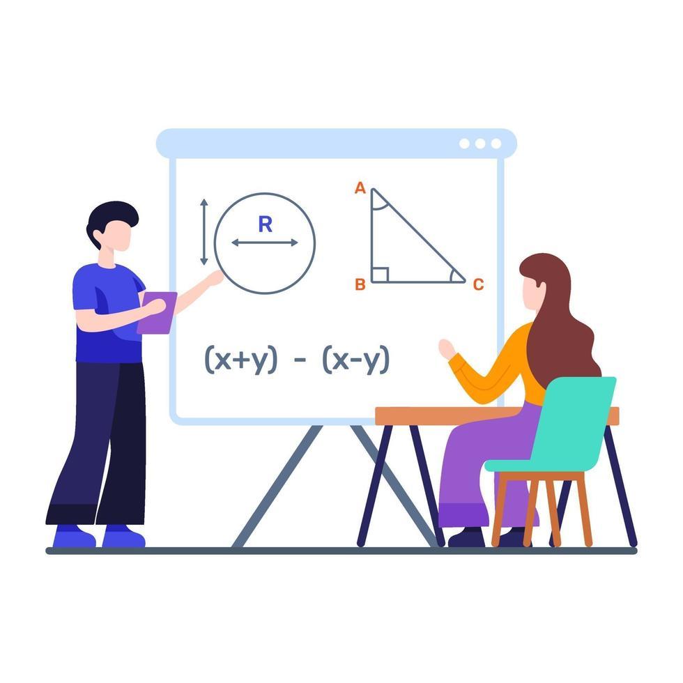 Klassenzimmer und Lernkonzept vektor