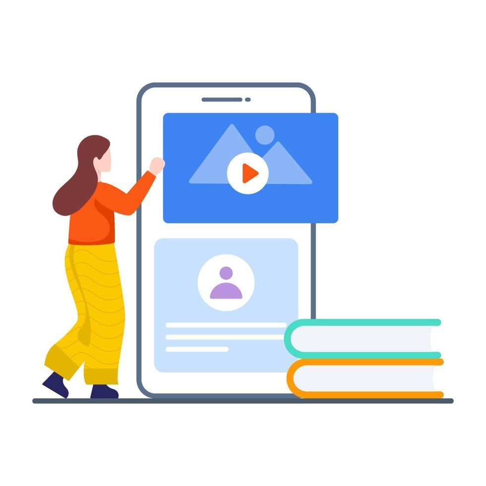 Online-Lern-App-Konzept vektor