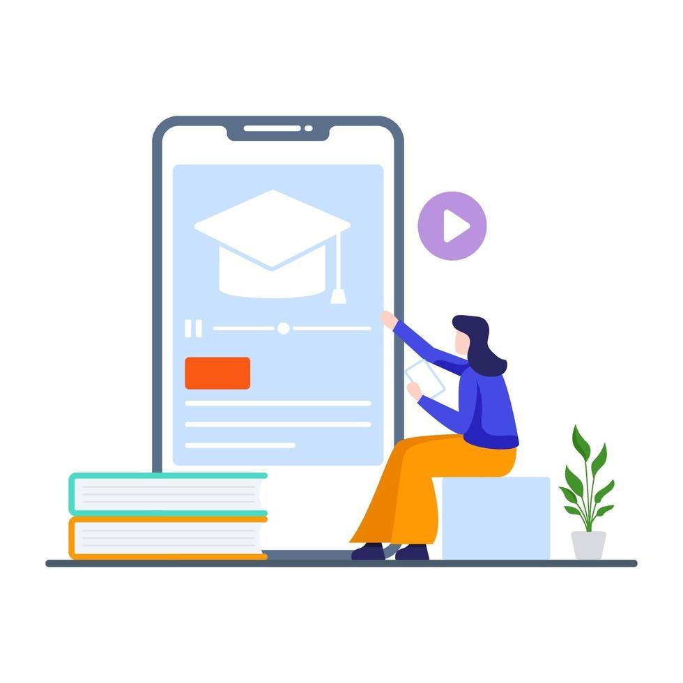 online utbildningskurser koncept vektor