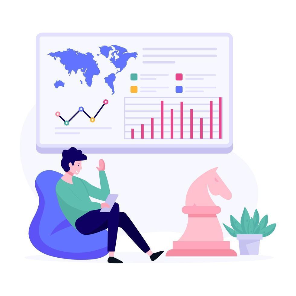 Datenassemblierungs-Manager-Konzept vektor
