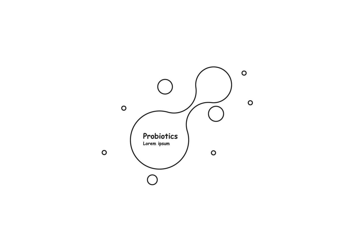 Biotechnologie. Symbolmolekül. Vektor-Logo-Vorlage. abstrakte Molekülvektorschablone. vektor