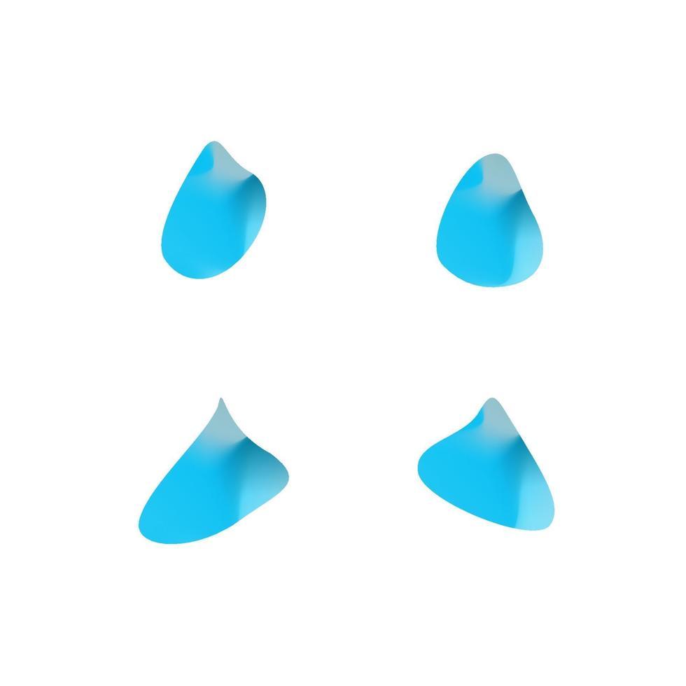 uppsättning abstrakta moderna grafiska element. gradient ljusa former i form av vattendroppar. modern abstrakt färgglad vektor vätskesamling