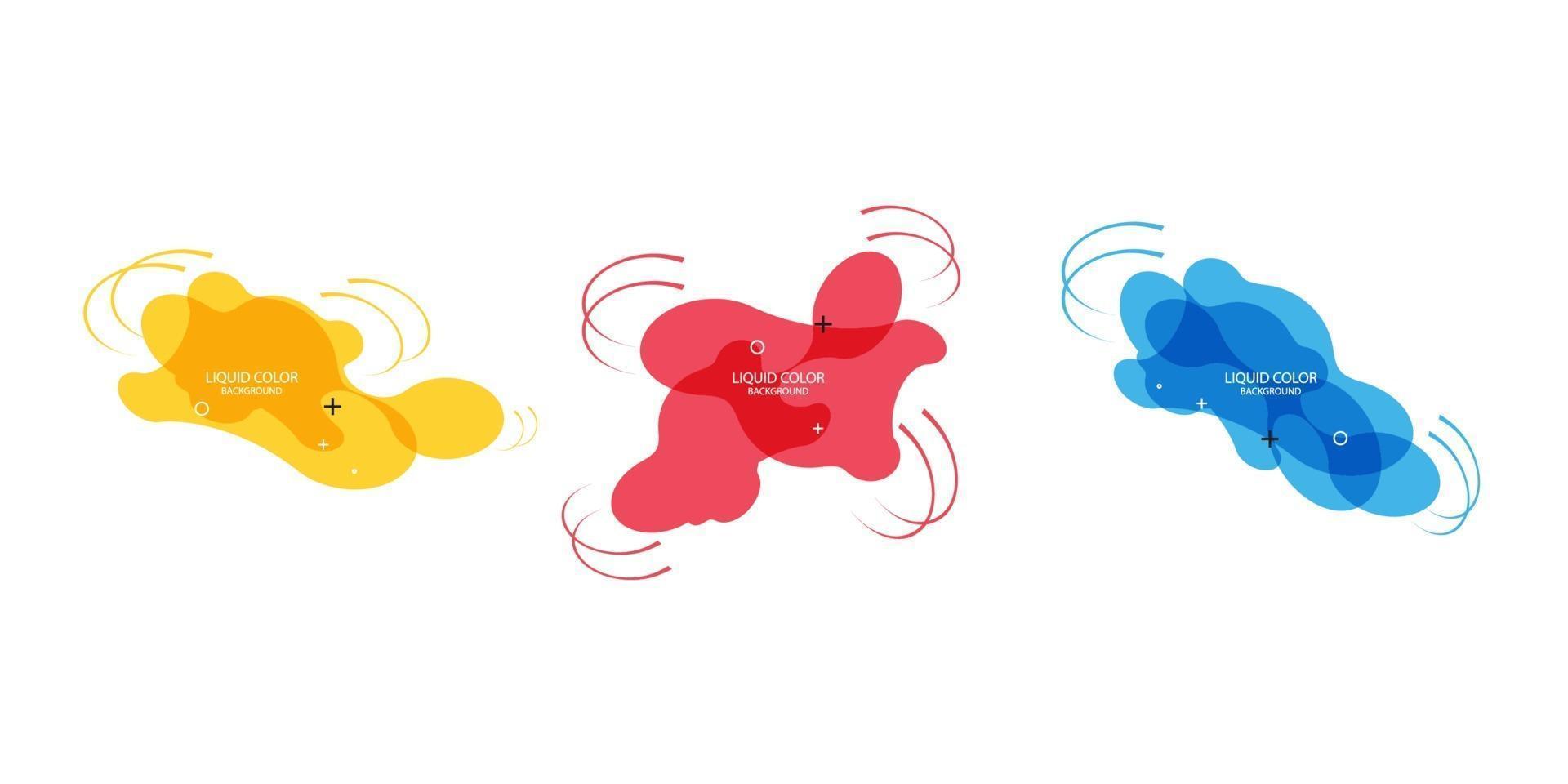 modern abstrakt vektor banneruppsättning. platt geometrisk flytande form med olika färger. modern vektormall, mall för design av en logotyp, flygblad eller presentation. abstrakta geometriska former