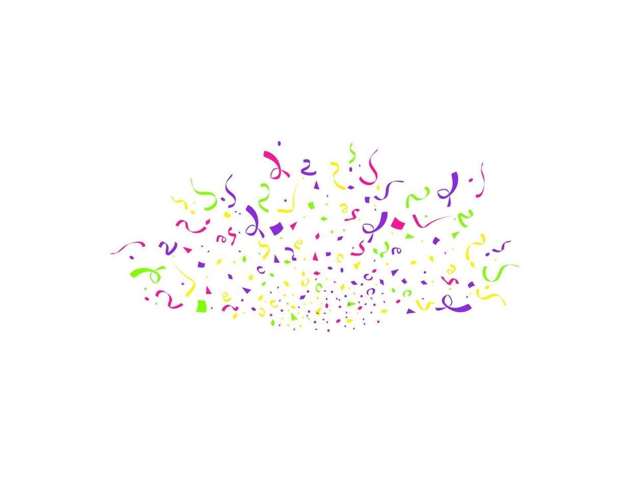 färgglada konfetti burst isolerad på vit bakgrund. festlig mall. vektorillustration av fallande partiklar för helgdagar design vektor