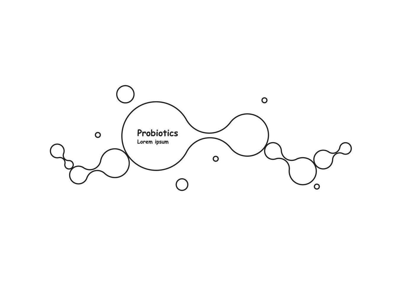 bioteknik. symbolmolekyl. vektor logotyp mall. abstrakt molekylvektormall. nanoteknikutveckling.