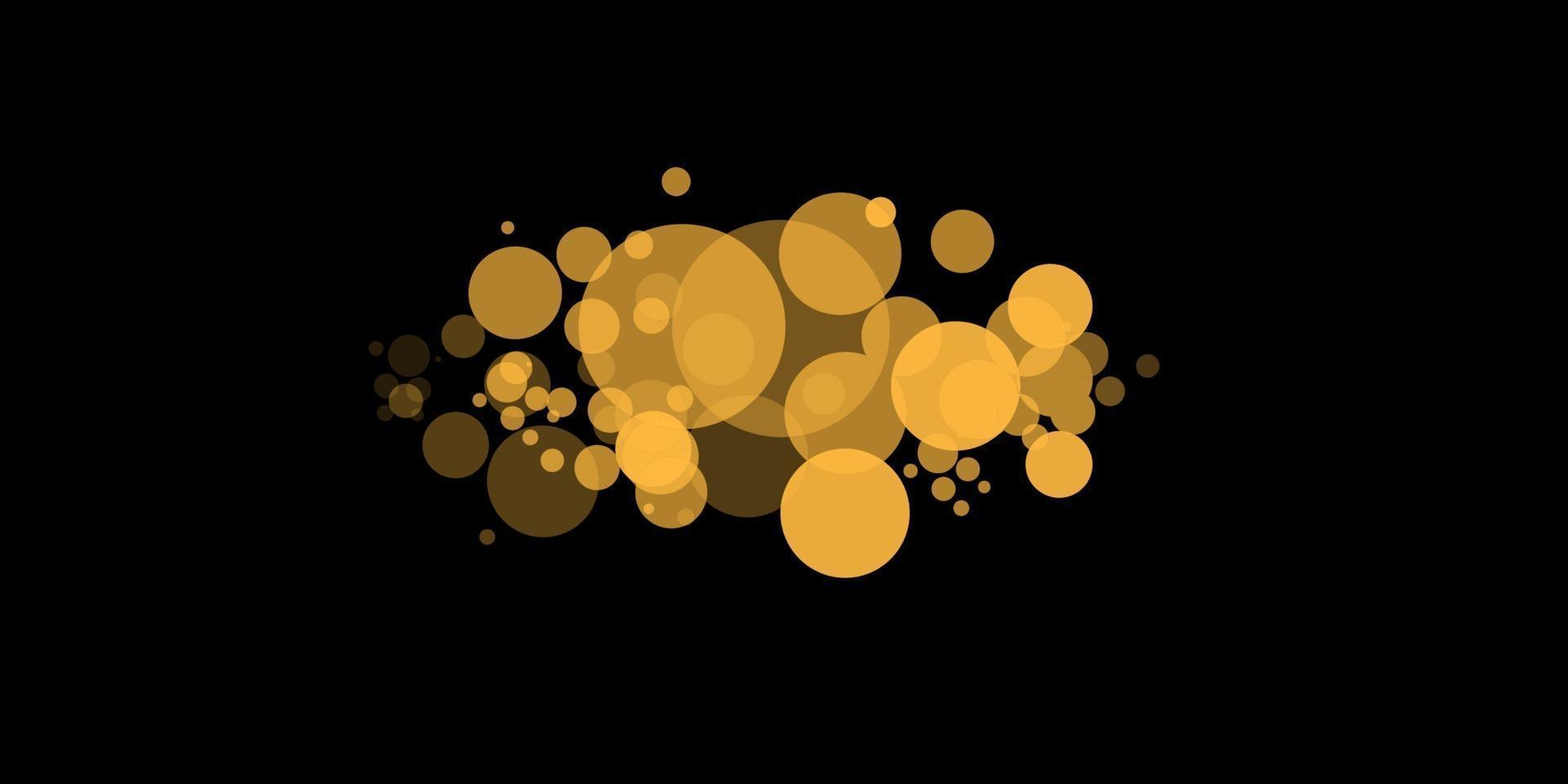 gelbes Bokeh. die Zusammenfassung des Kreislicht-Bokeh-Hintergrunds. goldene Lichter Hintergrund. Weihnachtslichtkonzept. Vektorillustration vektor