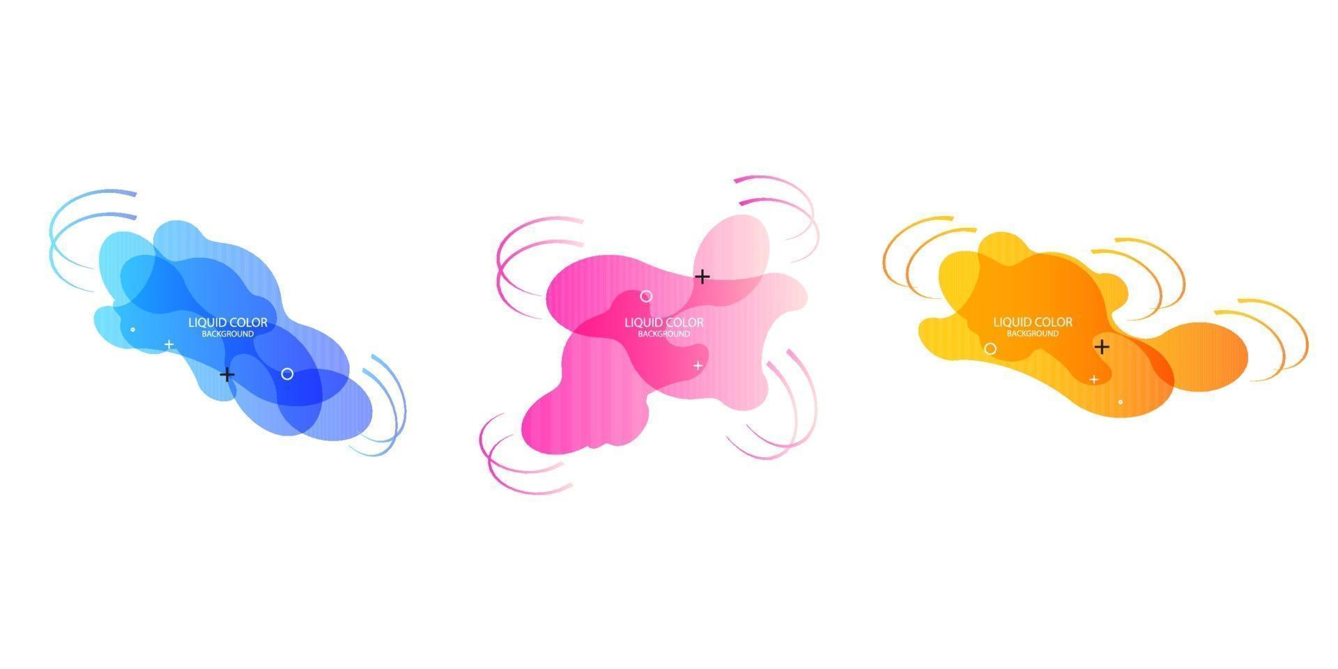 Geometrische Banner mit Farbverlauf und fließenden Flüssigkeitsformen. dynamisches flüssiges Design für Logo, Flyer oder Präsentationen. abstrakter Vektorhintergrund vektor