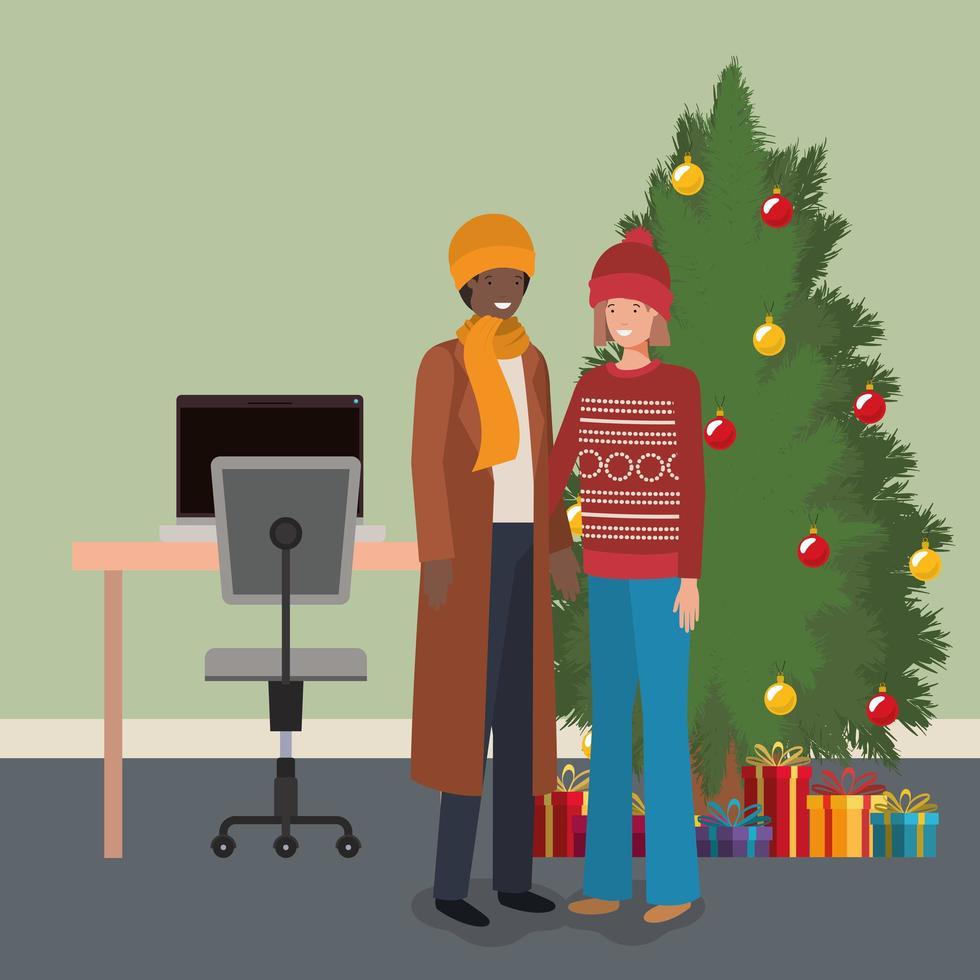 interracial par firar jul vektor