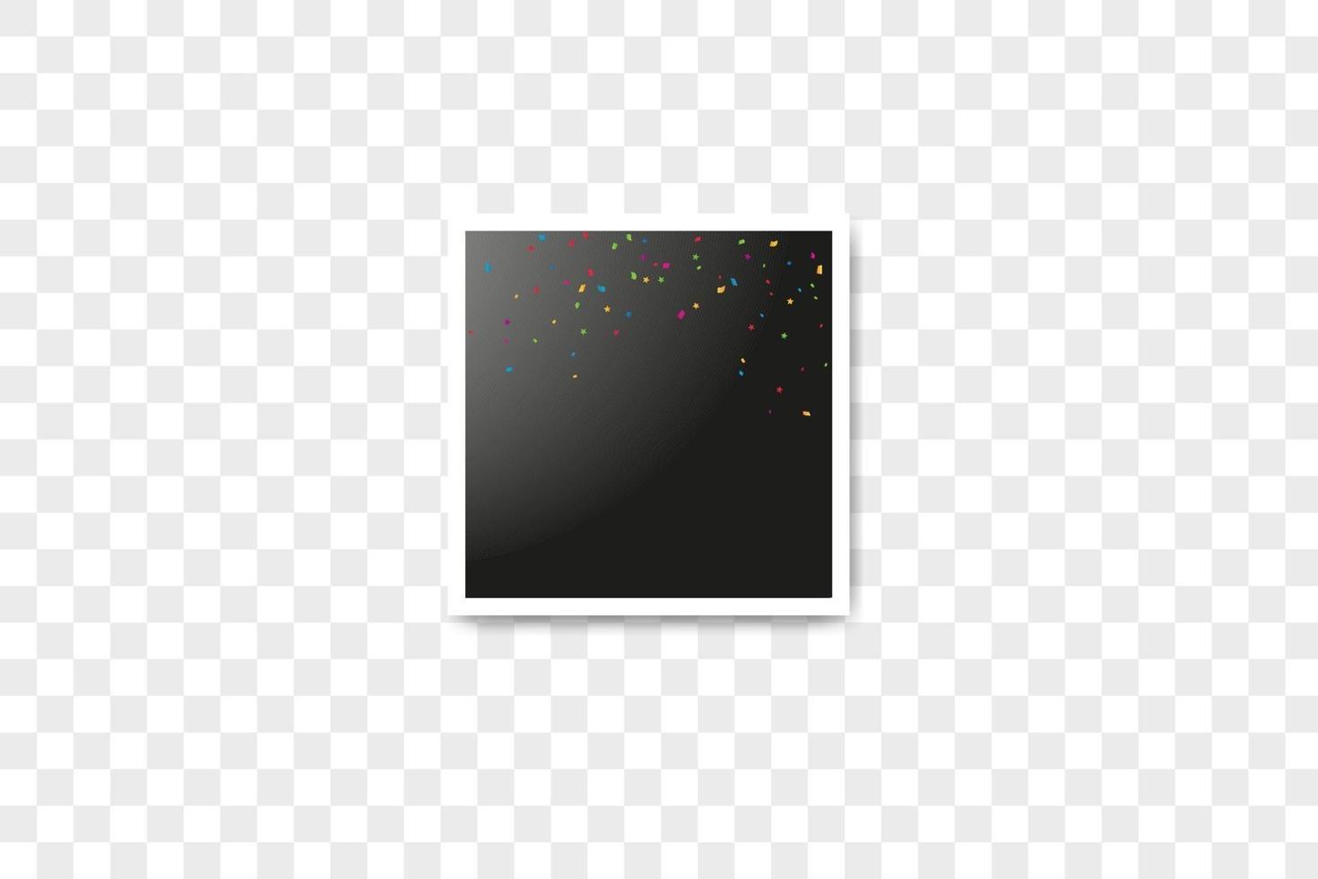 vektorramar fotocollage och färgkomposition av realistiska konfetti vektor