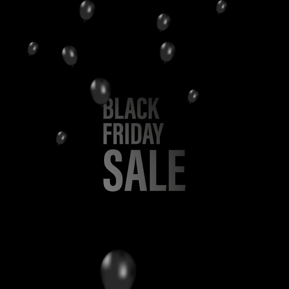 svart fredag ballonger bakgrund. svart realistiska ballonger samling. cool vektorillustration för affärer, fest, födelsedag eller helgdagar. vektor