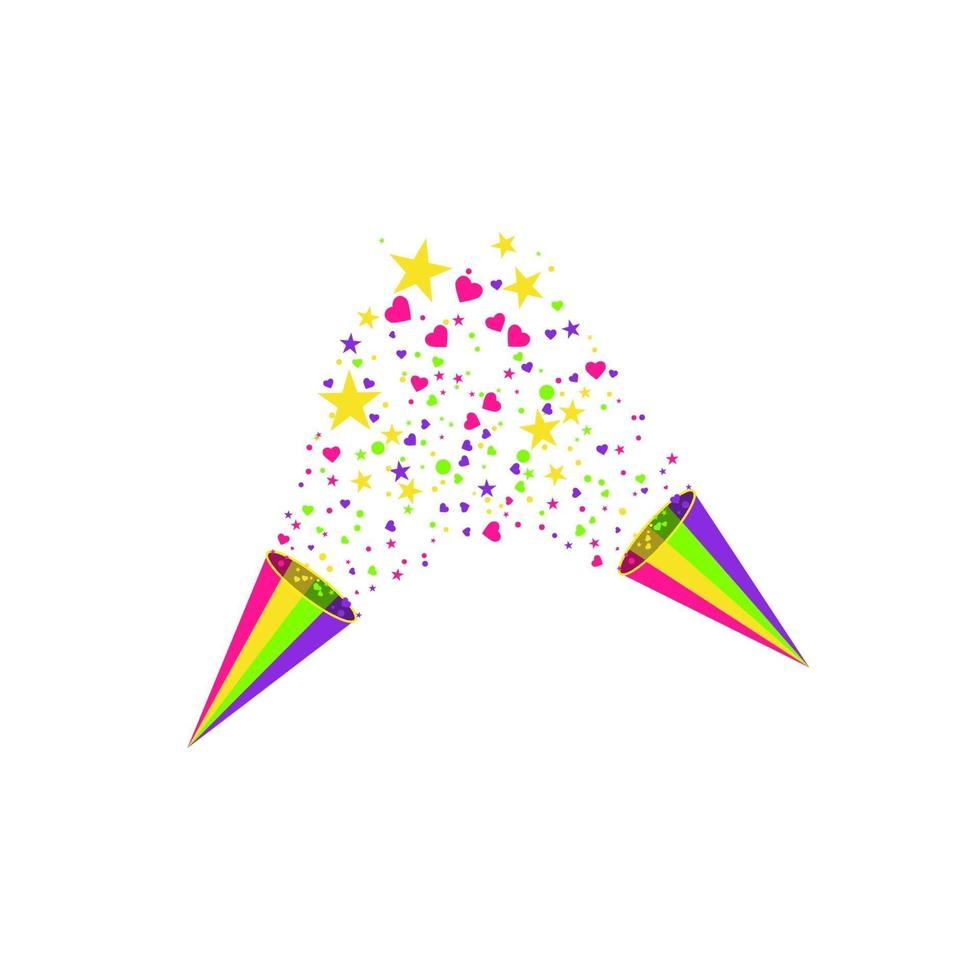 vektor konfetti. festlig illustration. party popper isolerad på vit bakgrund